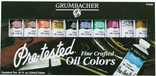 Grumbacher® Pre-Tested® Oil Set Of 10, 24ml Tube: Set Of 10