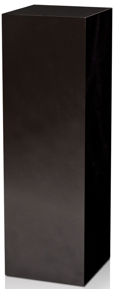 Xylem High Gloss Black Acrylic Pedestal: Size 15 x 15 inches, Height 18 inches