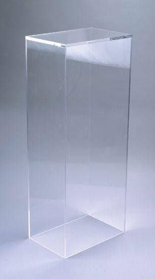 Xylem Clear Acrylic Pedestal Table Top 9 X Base 5