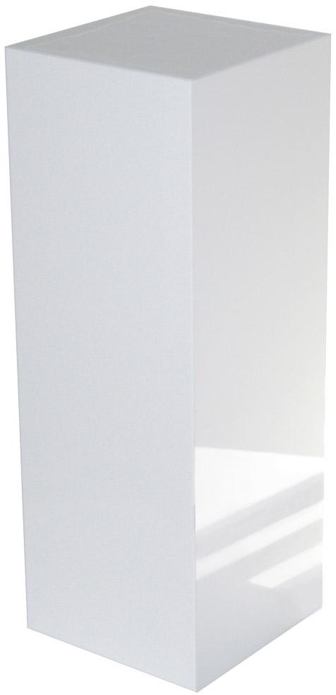 White Pedestal : White Gloss Acrylic Pedestal: 18