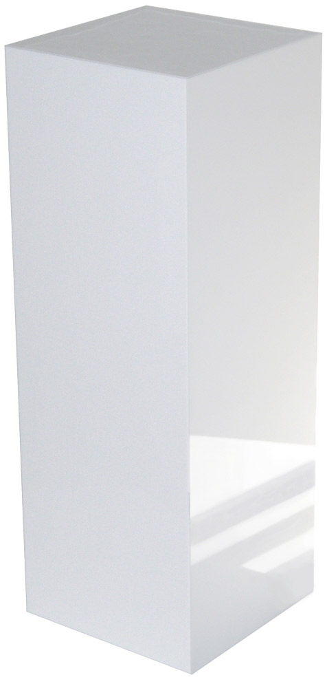 Xylem White Gloss Acrylic Pedestal: Size 15 x 15 inches, Height 18 inches
