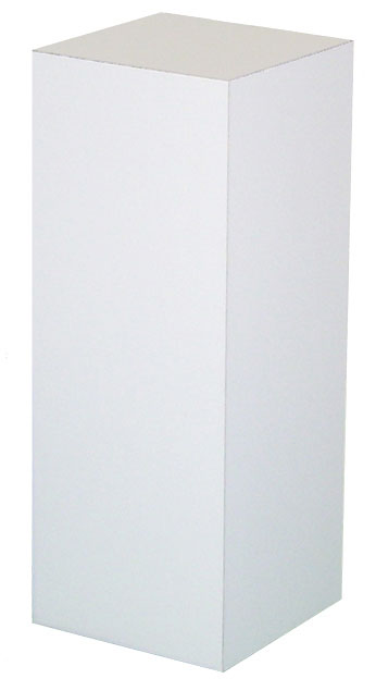 Xylem White Laminate Pedestal: 18 x 18 inches Base, 12 inches Height