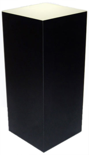Xylem Lighted Black Laminate Pedestal: 18 x 18 inches Base, 24 inches Height