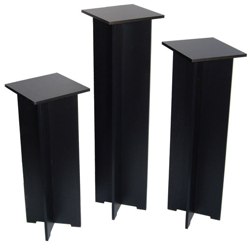 Xylem  Quick Set Pedestal, Black: Single 11-1/2  x 11-1/2 InchesBody Size, 35 Inches Height