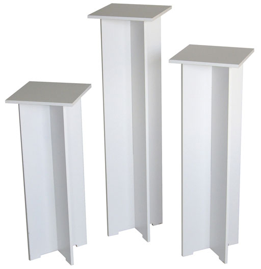 Xylem Quick Set Pedestal, White:  Single, 11-1/2 x 11-1/2 Inches Body Size, 40 Inches Height