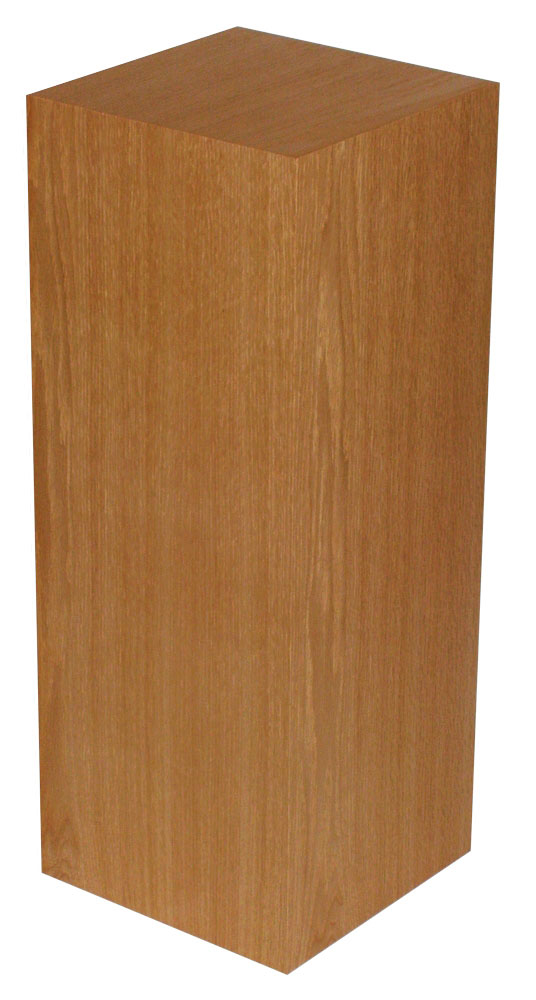 Xylem Cherry Wood Veneer Pedestal: 23 X 23 Inches, 12 Inches Height