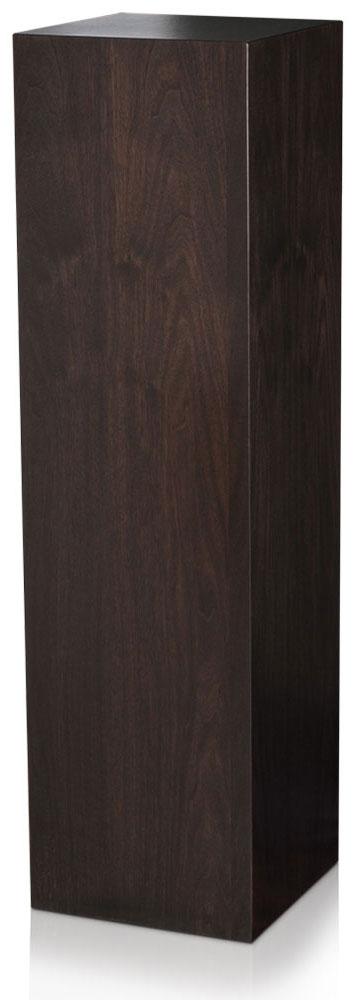 Xylem Ebony Walnut Wood Veneer Pedestal: 18 x 18 Inches Size, 12 Inches Height
