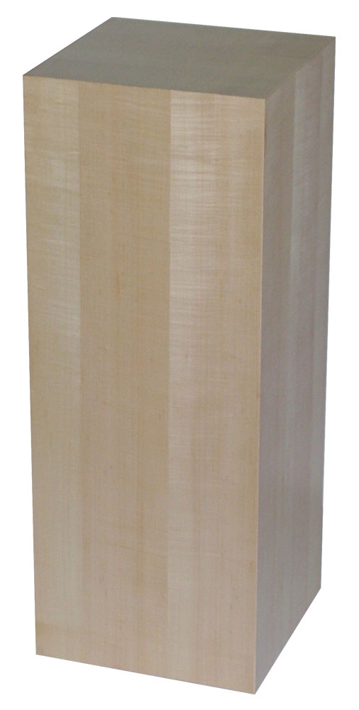 Xylem Maple Wood Veneer Pedestal: 11-1/2 X 11-1/2 Inches Size, 12 Inches Height