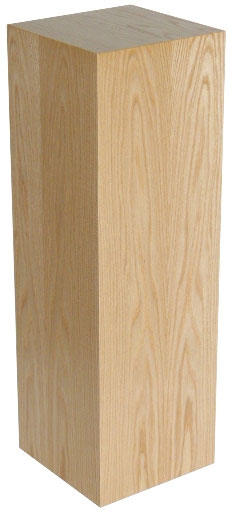 Xylem Oak Wood Veneer Pedestal: 18 X 18 Inches Size, 12 Inches Height