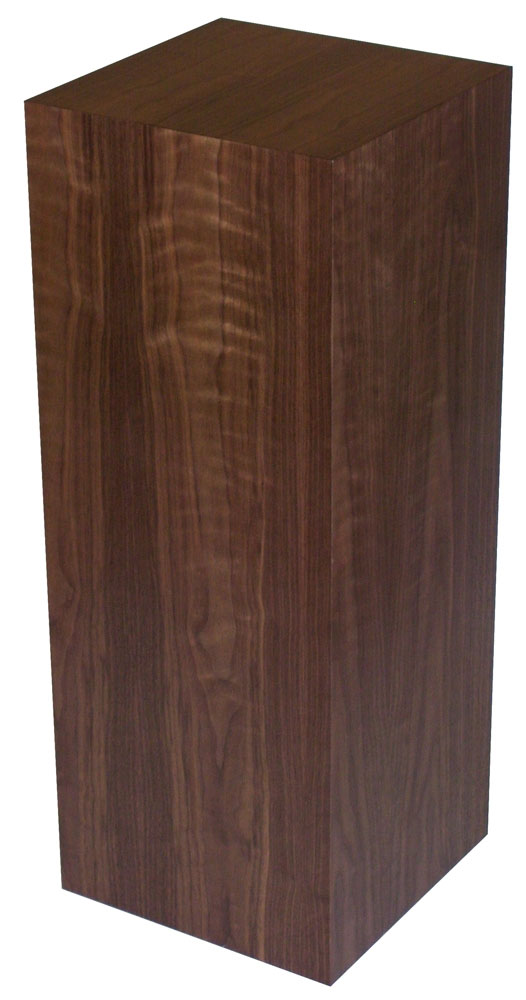 Xylem Walnut Wood Veneer Pedestal: 23 X 23 Inches Size, 24 Inches Height