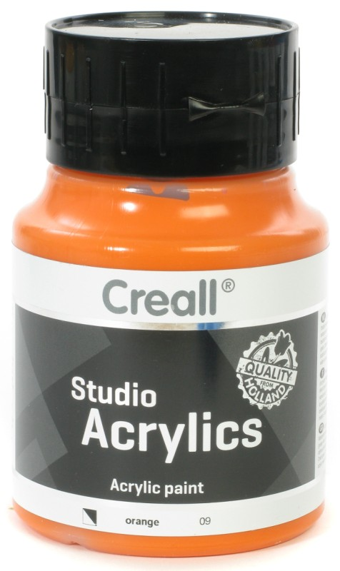 Creall Studio Acrylics: 500 ml, 09 Orange
