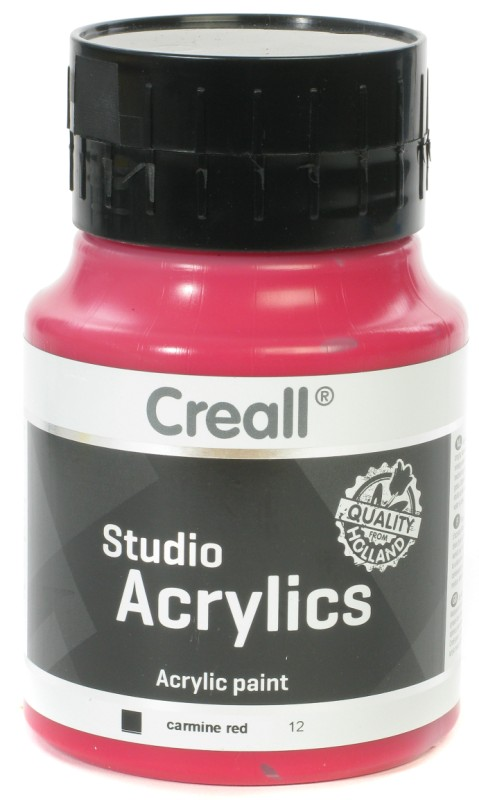 Creall Studio Acrylics: 500 ml, 12 Carmine Red