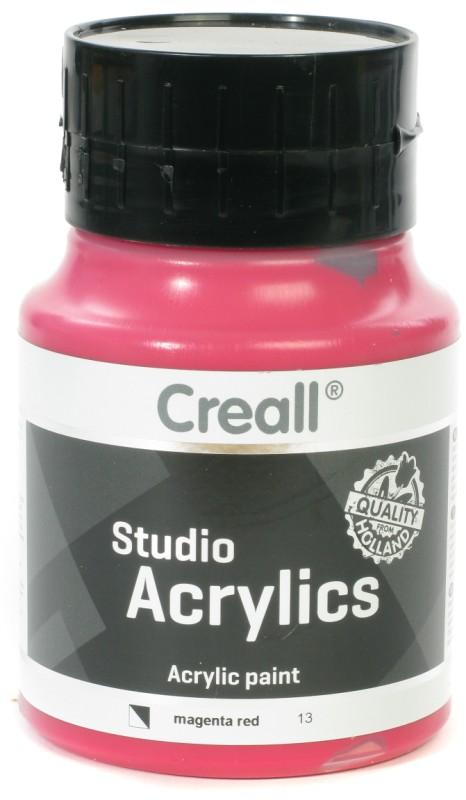 Creall Studio Acrylics: 500 ml, 13 Magenta Red