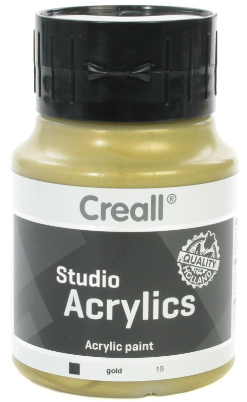 Creall Studio Acrylics: 500 ml, 19 Gold