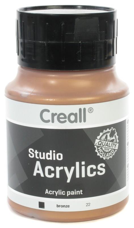 Creall Studio Acrylics: 500 ml, 22 Bronze