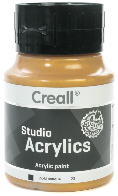 Creall Studio Acrylics: 500 ml, 23 Gold Antique
