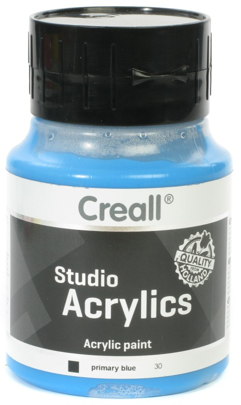 Creall Studio Acrylics: 500 ml, 30 Primary Blue