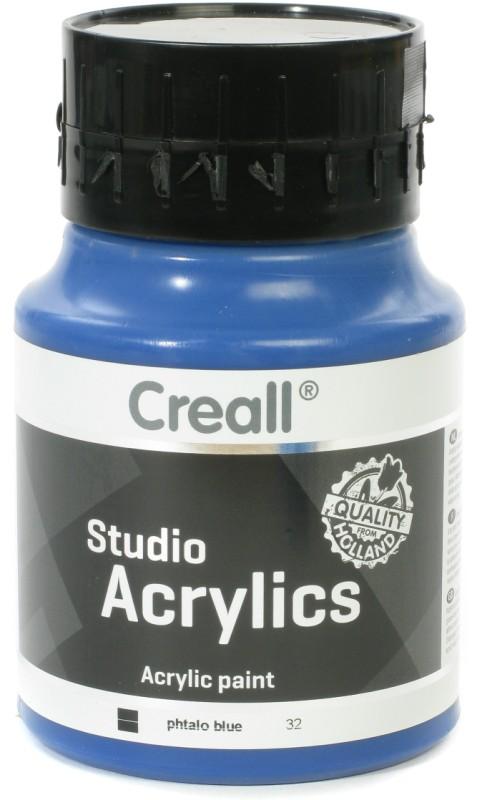 Creall Studio Acrylics: 500 ml, 32 Phtalo Blue