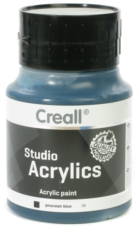 Creall Studio Acrylics: 500 ml, 34 Prussian Blue