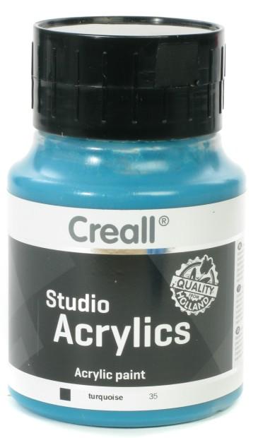 Creall Studio Acrylics: 500 ml, 35 Turquoise