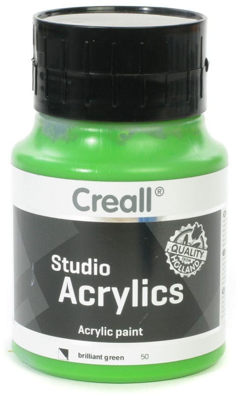 Creall Studio Acrylics: 500 ml, 50 Brilliant Green