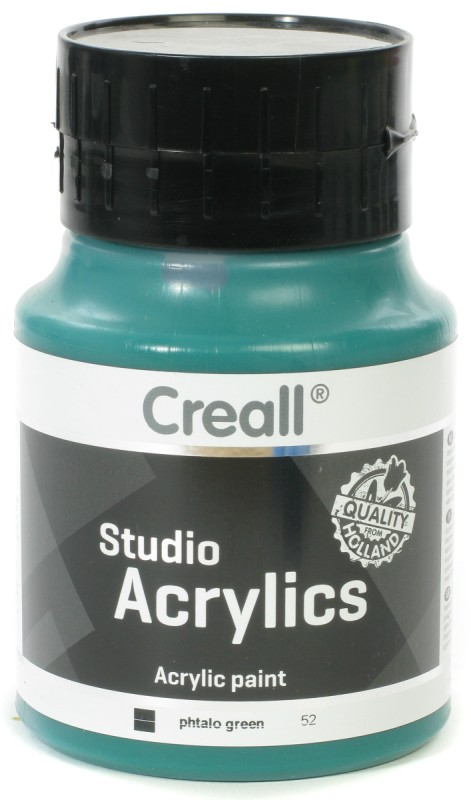 Creall Studio Acrylics: 500 ml, 52 Phtalo Green