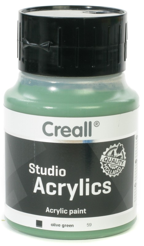 Creall Studio Acrylics: 500 ml, 59 Olive Green