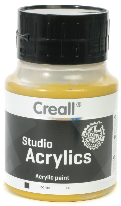Creall Studio Acrylics: 500 ml, 60 Ochre