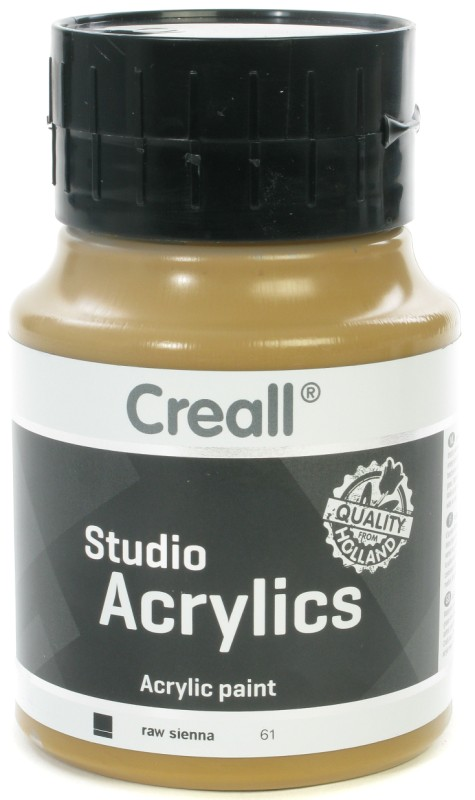 Creall Studio Acrylics: 500 ml, 61 Raw Sienna