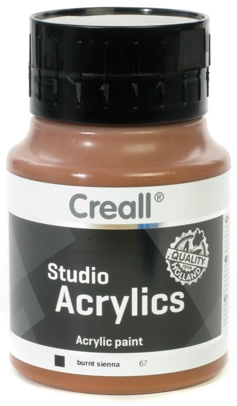 Creall Studio Acrylics: 500 ml, 67 Burnt Sienna