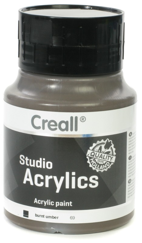 Creall Studio Acrylics: 500 ml, 69 Burnt Umber