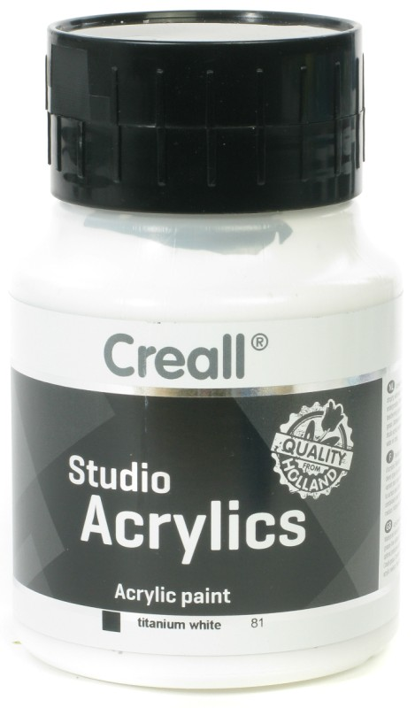 Creall Studio Acrylics: 500 ml, 81 White