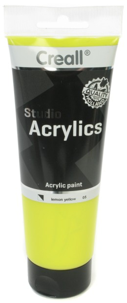 Creall Studio Acrylics Tube: 250 ml, 05 Lemon Yellow