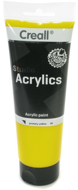 Creall Studio Acrylics Tube: 250 ml, 06 Primary Yellow