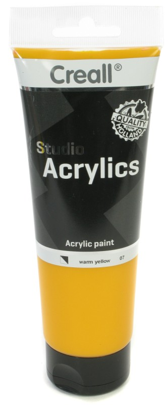 Creall Studio Acrylics Tube: 250 ml, 07 Warm Yellow