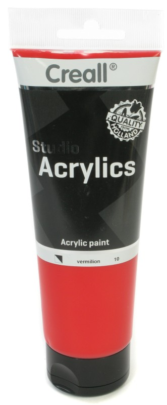 Creall Studio Acrylics Tube: 250 ml, 10 Vermillion