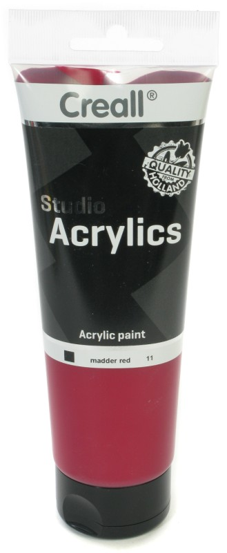 Creall Studio Acrylics Tube: 250 ml, 11 Madder Red