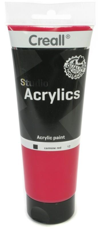 Creall Studio Acrylics Tube: 250 ml, 12 Carmine Red