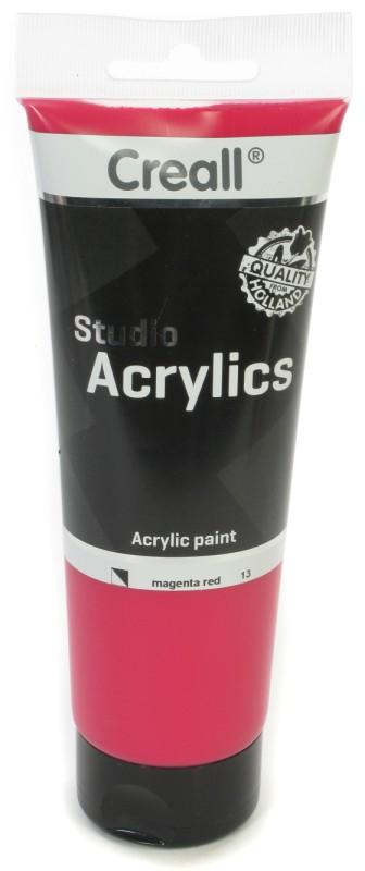 Creall Studio Acrylics Tube: 250 ml, 13 Magenta Red