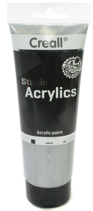 Creall Studio Acrylics Tube: 250 ml, 20 Silver