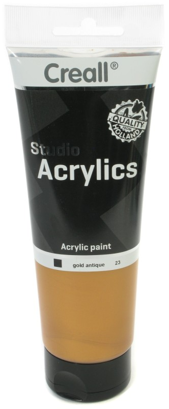Creall Studio Acrylics Tube: 250 ml, 23 Gold Antique