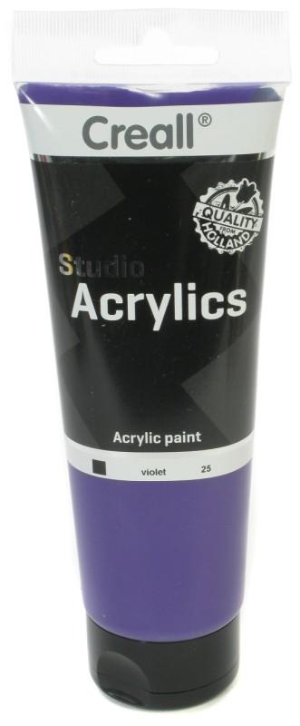 Creall Studio Acrylics Tube: 250 ml, 25 Violet