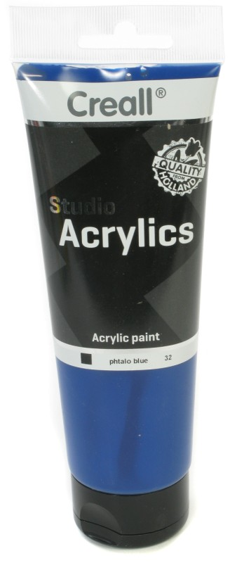 Creall Studio Acrylics Tube: 250 ml, 32 Phtalo Blue