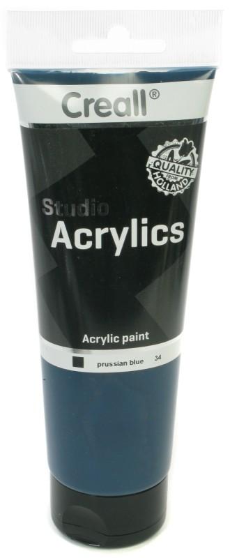 Creall Studio Acrylics Tube: 250 ml, 34 Prussian Blue
