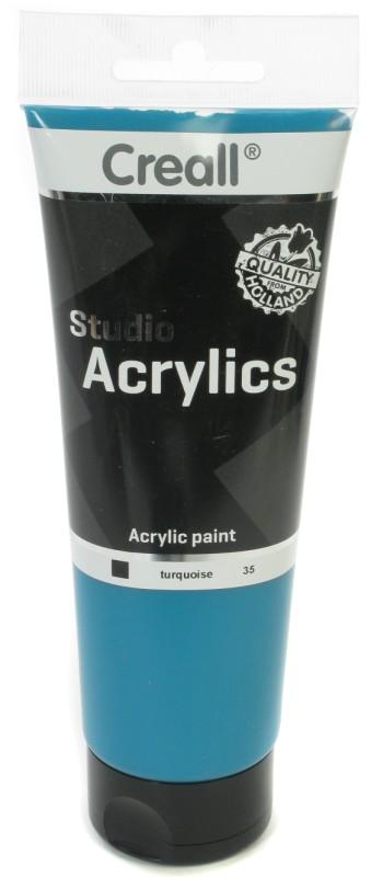 Creall Studio Acrylics Tube: 250 ml, 35 Turquoise