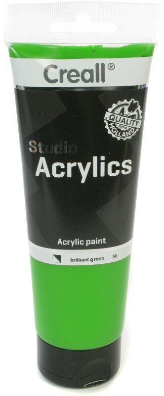 Creall Studio Acrylics Tube: 250 ml, 50 Brilliant Green
