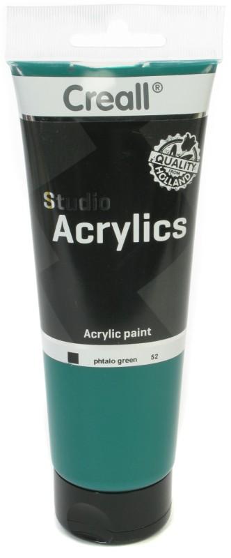 Creall Studio Acrylics Tube: 250 ml, 52 Phtalo Green