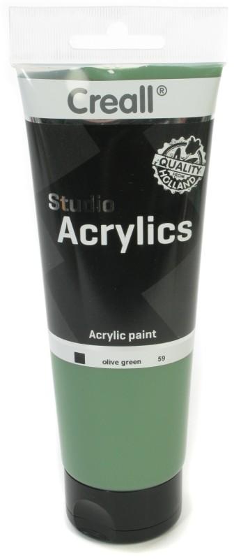 Creall Studio Acrylics Tube: 250 ml, 59 Olive Green