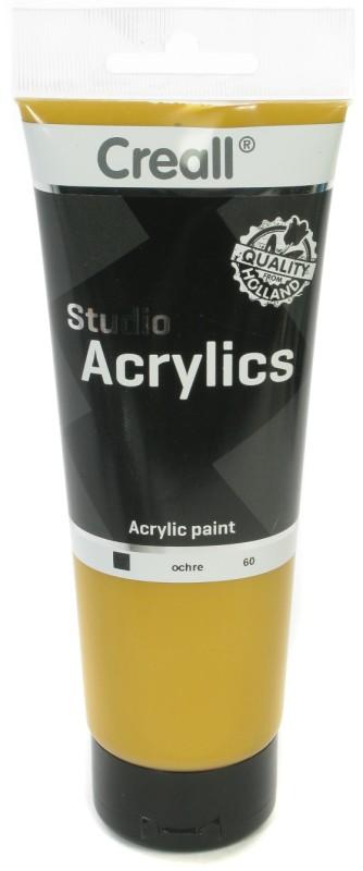 Creall Studio Acrylics Tube: 250 ml, 60 Ochre