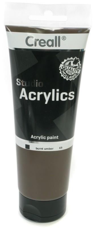 Creall Studio Acrylics Tube: 250 ml, 69 Burnt Umber